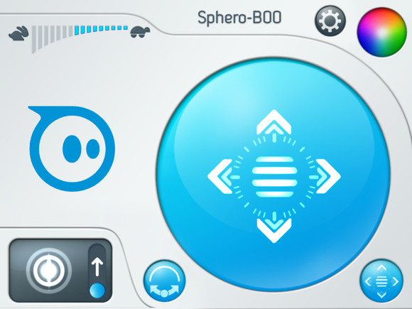 A screenshot of the Orbotix Sphero app for iPad